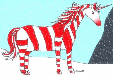 Candy-cane-icorn by Ataraxia25