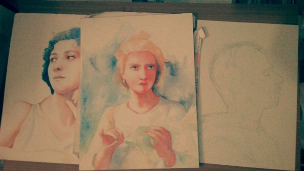my study of the portrait paintings by Narzissus