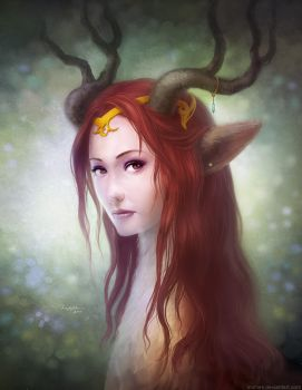 Deer Goddess by minties