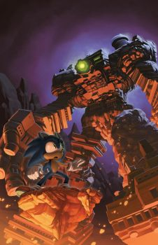 Sonic the Hedgehog: Issue 285 Variant Cover by EvanStanley