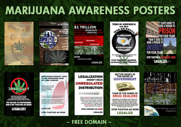 Marijuana Awareness Posters by eternalrabbit