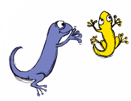 Hello Geckos by eugeal