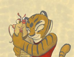 Hugging Tigress, Smothered Prawn by Inspectornills