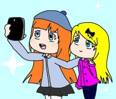 take a selfie by Kawaii-Artistic