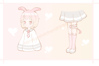 [CLOSED] Sketch Adopt - Bunny School Girl by NicoleNinichan233
