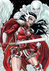 Lady Sif and the Frost Giants by Szigeti