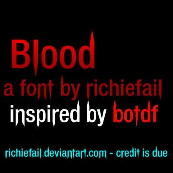 Blood on the Dance Floor font 2011 by richiefail