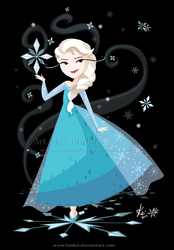 Elsa vector love by kinkei