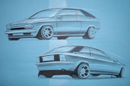 Austin Allegro Coupe by AaronsDesk