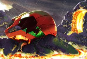 Game Over - Samus Aran by Zombie-Graves