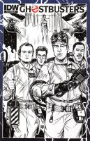 Ghostbusters Sketch Cover by timshinn73