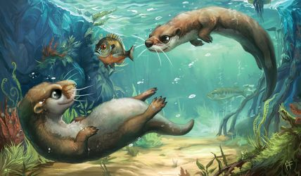 Creature Collection: Otter by ALRadeck