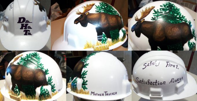 Moose on a Hard hat by Magnum-Arts