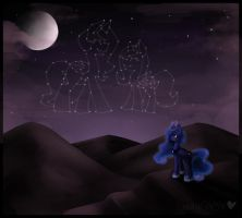 Luna's starry skies by Drawing-Heart
