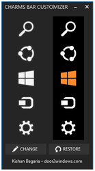 Windows 8.1 Charms Bar Customizer by Kishan-Bagaria