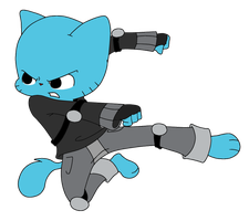 2D Gumball Combat Position (transparent)- TAWoG NG by TAWoGFan2000