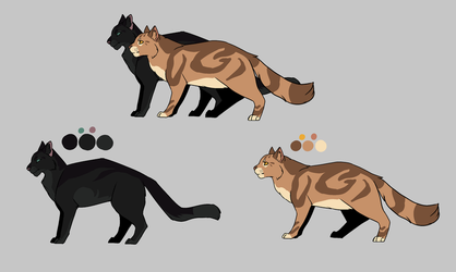 Leafpool and Crowfeather refs [+SPEEDPAINT] by RaidioactiveVampy