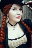 Steampunk Lady in Stripes III by MADmoiselleMeli