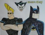 Johnny Bravo Meets Batman The Animated Series by JQroxks21