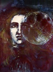 Elisa, Night and Bloody Moon by Mon-artifice