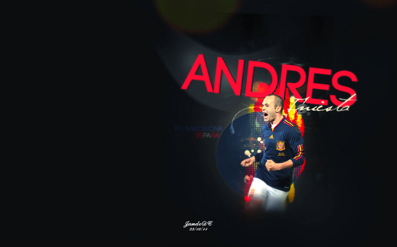 Andres Iniesta by JandoDC