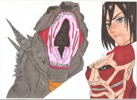 Attack on Titan - Roar of a god by Tyrannuss555
