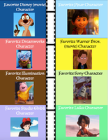 My Favorite Animated Film Characters by FreshliciousFlower