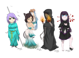 Chibi's !! by Evil-Queen-kitty