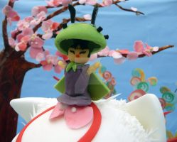Issun from Okami cake by ginas-cakes