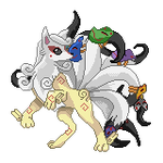 Ninetales (Normal/Fantasma) by Kurotao