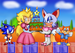 Peach and Rouges Cake party by ClassicSonicSatAm