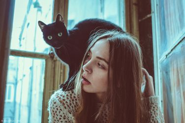 Urban Stories - Irene and the black cat by Michela-Riva