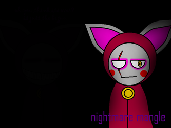 Nightmare Mangle by shadowNightmare13