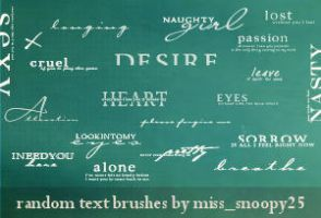 20 Brushes by misssnoopy25