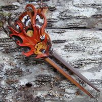 Oak and Twig Chignon Pin by Beadmask