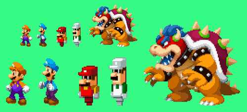 Bowser's Inside Story- X bosses redesigns by Iwatchcartoons715