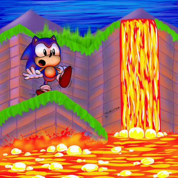 Sonic the Hedgehog Marble Zone by sir-grimmington