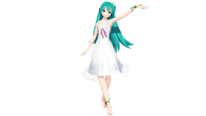 MMD - DT Extend White One Piece Miku +DL by luiz7429