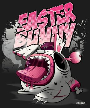easter bunny zombie by thinkd