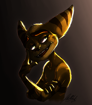 A Well Lit Lombax by Wolf-Shadow77
