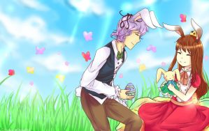 Garry and Ib Happy Easter by CitrusPencil