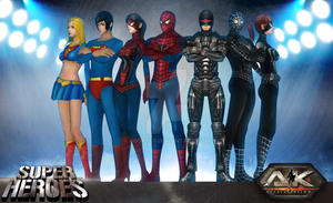 All Super Hero Suits (AK Online) by HourtLy