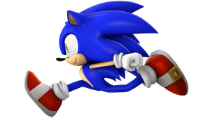 Sonic Running Pose Render by nikfan01