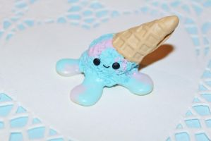 Kawaii Dropped Ice Cream Magnet by CharmStop