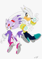 Silver and Blaze by Faezza ink by LuckyHRE