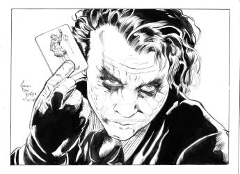 The Joker Line Art by ShawnVanBriesen