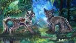 Warriors Siblings: Ivypool and Dovewing by Solarizing