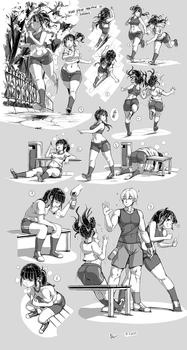 Nsio Pose Practice 10: Jogging by Nsio