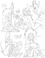 Sketch Dump PD and Pink Pearl by RayValentine1991