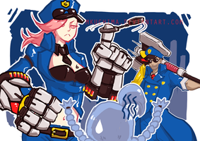 Officer Vi and Jayce by Mkuchima